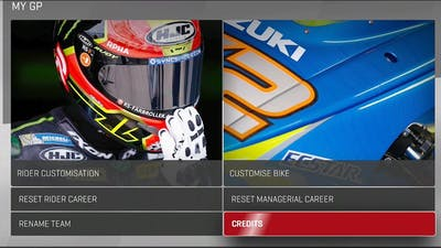 MotoGP 17 - Everything In The Main Menu Section On The Game