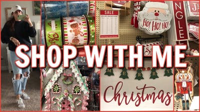 CHRISTMAS SHOPPING AT HOBBY LOBBY | PUTTING AWAY HALLOWEEN