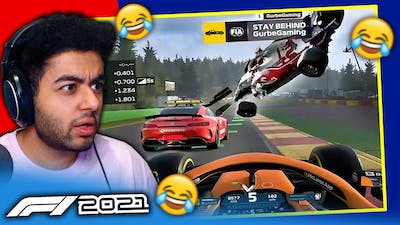 SAFETY CAR CRASHES INTO & DNF'S RACE LEADER on F1 2021 Game!
