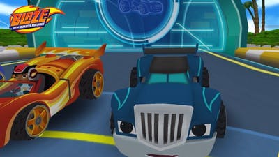 Blaze and the Monster Machines - Racing Game 🔥VELOCITYVILLE Map: Race Against Darington!