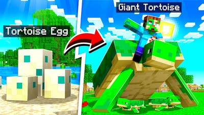TAMING A GIANT TORTOISE In MINECRAFT! (pet)