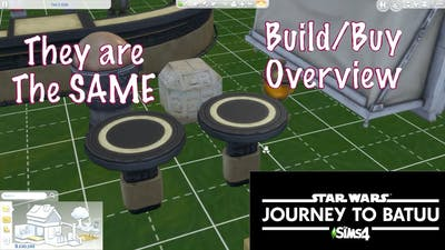 Star Wars: Journey to Batuu Build/Buy Overview | Same Item Different Cost | The Sims 4