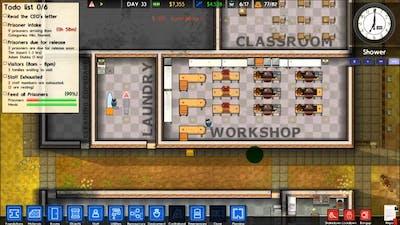 Prison Architect Part 10 Complete Cellblock C, Workshop Renovation, Patrol