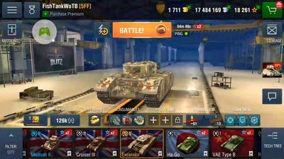 WoT blitz Excelsior gameplay
