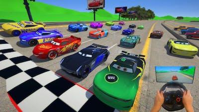Ring Race   All Cars McQueen VS Cars 3 Next Gen Jackson Storm Cruz Ramirez Conrad Camber & Friends