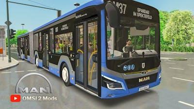MAN Gelenkbus New Lion's City 18m. | OMSI 2 | 🇩🇪 Berlin Spandau Modern