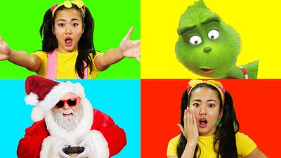 Santa Giant Smash Game with The Grinch and Ellie Sparkles