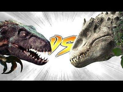 Indoraptor Vs Indominus rex !  ( Strong Battle🔥🔥)!!