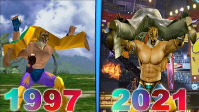 Evolution of King Muscle Buster in 12 games (1997-2021)
