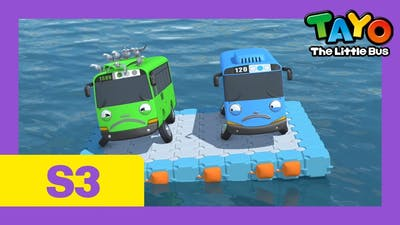 Tayo S3 EP25 l When buses float on the river l Somebody help us l Tayo Episode Club
