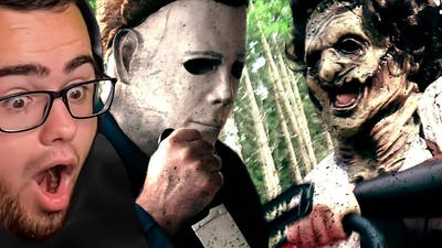 Reacting to MICHAEL MYERS vs LEATHER FACE!