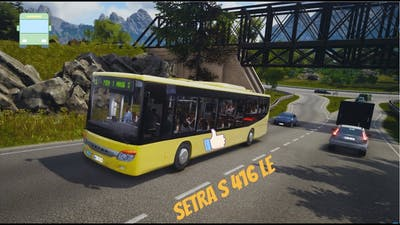 Bus Simulator 18 - Setra  S 416 LE - National Holiday - Timelapse - Gameplay (PC HD) [1080p60FPS]