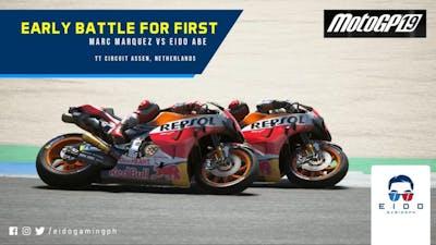 MotoGP 19 [PC Steam] - Assen Early Lap Battle with Repsol Honda Marc Marquez