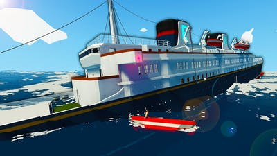 Massive Ocean Liner Gets Capsized By a Tsunami! - Stormworks Sinking Ship Survival