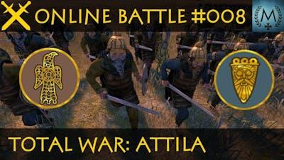 Total War: Attila - Online Battle #008 Visigoths vs Langobards