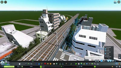 Japanese commercial street - Cities Skylines