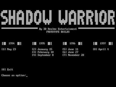 Shadow Warrior Prototypes: January 15, 1995