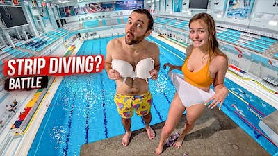 Regular GIRL vs REMOVE 1 CLOTHING from the Olympic height | Challenge at the swimming pool