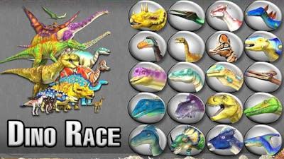Dinosaur Race: Dinos Vs Animals #2 - Who is Faster? | Eftsei Gaming