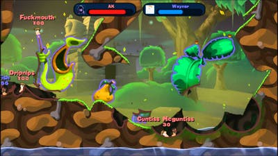 David and Wayne Play Da Game: Worms Reloaded Part 1