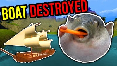 ANGRY PUFFER FISH VS BOAT!! (gmod nextbot)