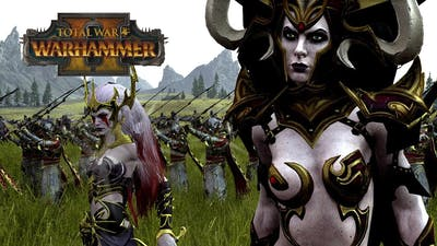 2 WITCHES, 1 GUARD - Dark Elves vs Greenskins // Total War: Warhammer II Online Battle