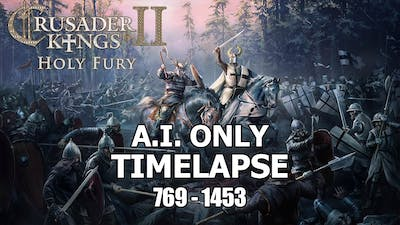 Crusader Kings 2 Holy Fury Timelapse (769 - 1453) A.I only