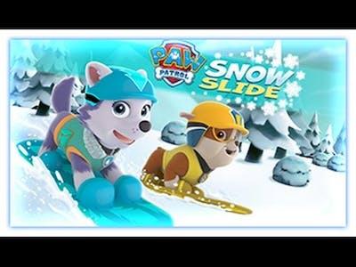 Paw Patrol - Snow Slide - Paw Patrol Games