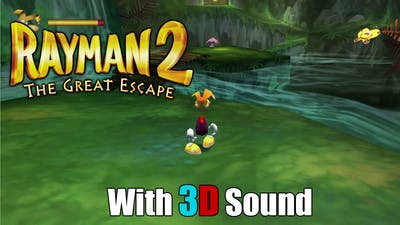Rayman 2: The Great Escape w/ 3D spatial sound 🎧 (OpenAL Soft HRTF audio)
