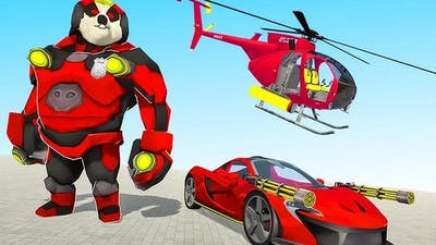 Panda Robot Helicopter Transform Battle Games | Android Gameplay
