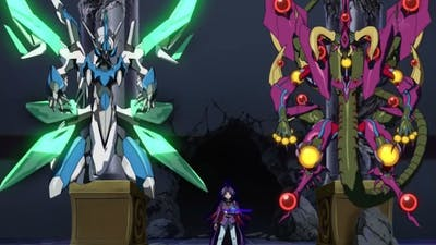 Yu-Gi-Oh Arc-V Yuri summons Clear Wing Synchro Dragon for the first time