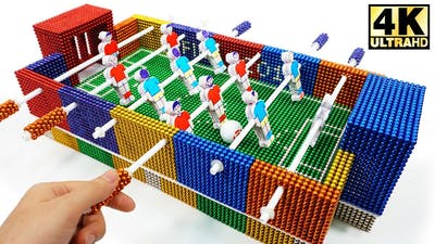 DIY - How To Make Foosball (Table Football) from Magnetic Balls   Magnetic Man 4K