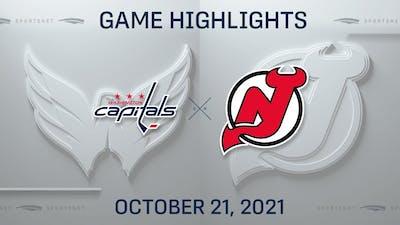 NHL Highlights   Capitals vs. Devils - Oct. 21, 2021