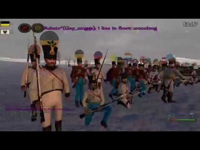160+ Online players! Volley firing line RP & fun - Mount & Blade Warband Napoleonic Wars