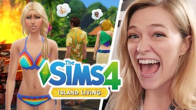 Playing The Sims 4 Island Living at EA Play | Kelsey Impicciche