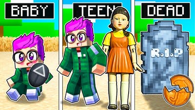 BIRTH TO DEATH Of The SQUID GAME DOLL In MINECRAFT! (CRAZY STORY!)