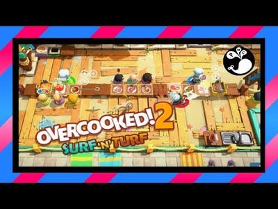 [6] Bellowing People - Overcooked! 2 (3P) - Surf 'n Turf DLC   Family Game Night