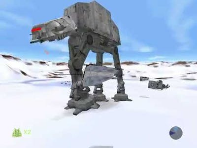 Star Wars Shadows of the Empire Gameplay, first level battle of hoth