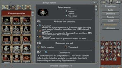 Loop Hero Fully Unlocked Encyclopedia