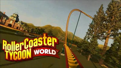 Roller Coaster Tycoon World - Building a track (very bad track) timelapse