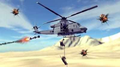 Helicopter Crashes & Shootdowns #11 Feat. UH-1Y Venom   Besiege