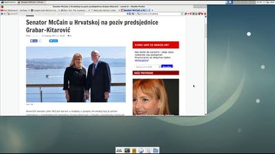 president Of The Republic Of Croatia And murderer, warmonger And arms dealer john mccain