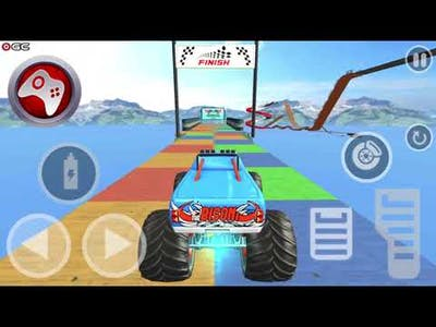 Impossible Monster Truck: race & Stunts 3D_I STOLE LAMBORGHINI FROM POLICE DEPARTMENT