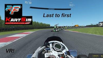 Racing in kartsim around Clay Pigeon on rFactor 2 in vr!