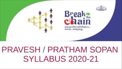 PRAVESH / PRATHAM SOPAN SYLLABUS 2020-21