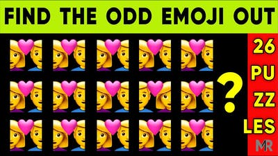 CAN YOU FIND THE ODD EMOJI. Out in This Pictures puzzles - Odd one out - 26 Emoji Puzzle Brain games