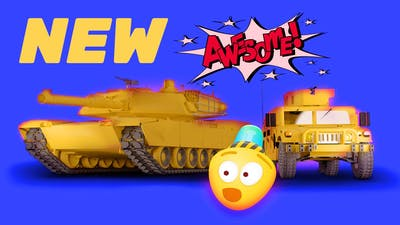 Military Cartoon, Tank & Helicopter | 3D Army Cars For Kids | Construction Game