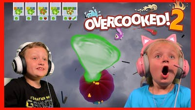 Overcooked! 2 - Cooking in a TORNADO! 🌪🌪🙀🤣