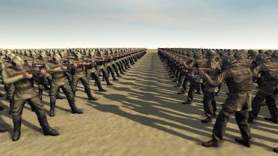 USA INFANTRY vs RUSSIAN CONSCRIPTS - Men of War Assault Squad 2