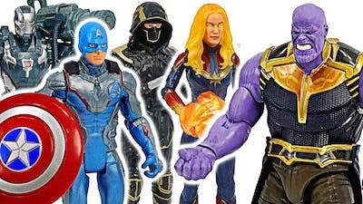 Avengers End Game Captain America & Captain Marvel Power up VS Thanos #DuDuPopTOY